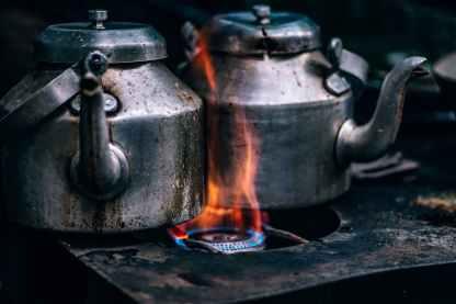 antique burn burning close up