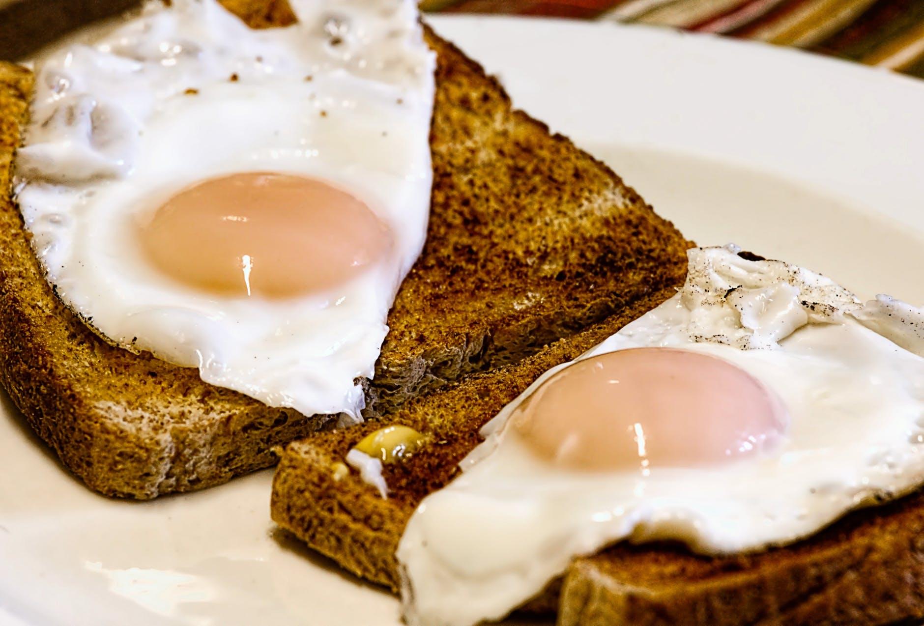 food toast meal morning