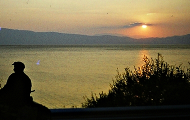 OHR 78 OHRID Sunsetting over Albania